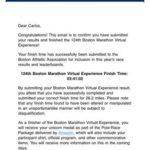 Carlos Ortiz Garcia Vaso del Club Cuatro Santos finaliza la Maraton de Boston 1
