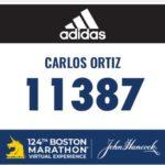 Carlos Ortiz Garcia Vaso del Club Cuatro Santos finaliza la Maraton de Boston 3